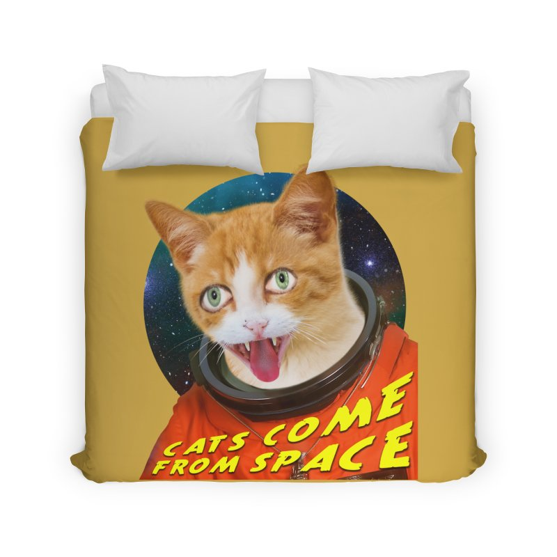 Cats Come From Space Home Duvet by The Rake & Herald Online Clag Emporium