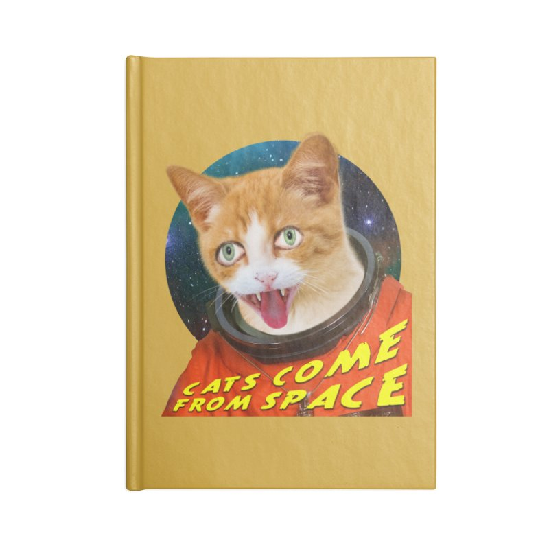 Cats Come From Space Accessories Blank Journal Notebook by The Rake & Herald Online Clag Emporium