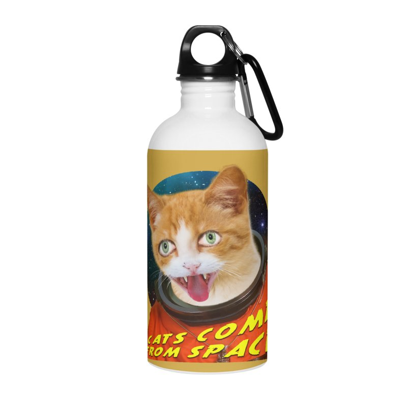Cats Come From Space Accessories Water Bottle by The Rake & Herald Online Clag Emporium