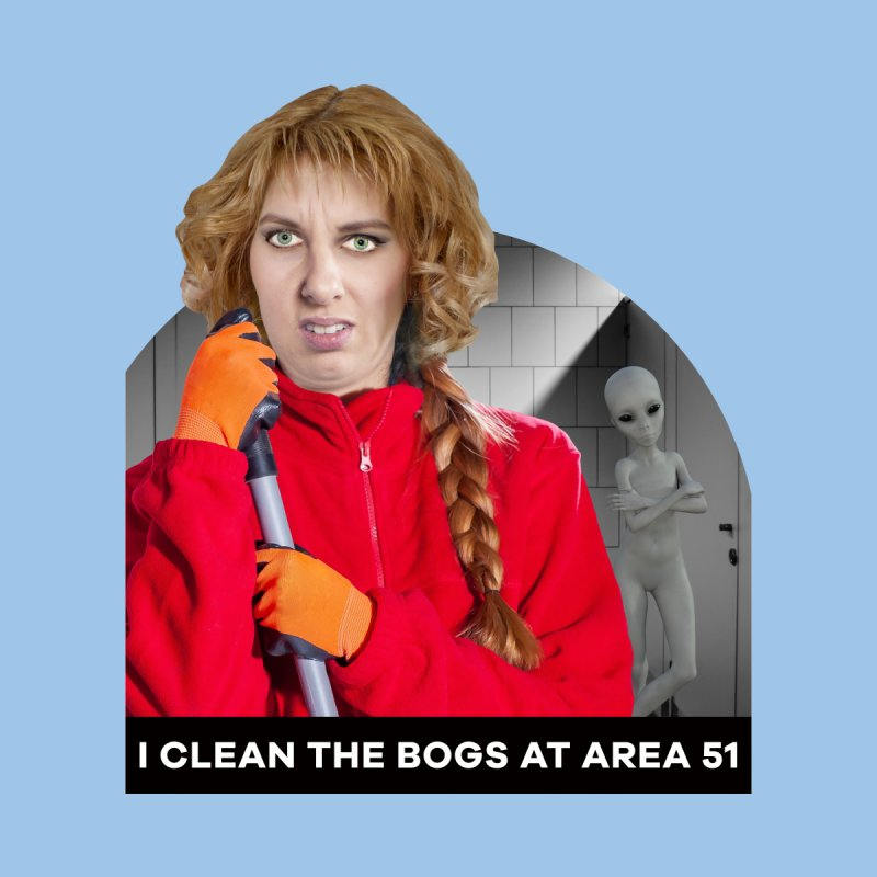 I Clean the Bogs at Area 51 Men's Zip-Up Hoody by The Rake & Herald Online Clag Emporium