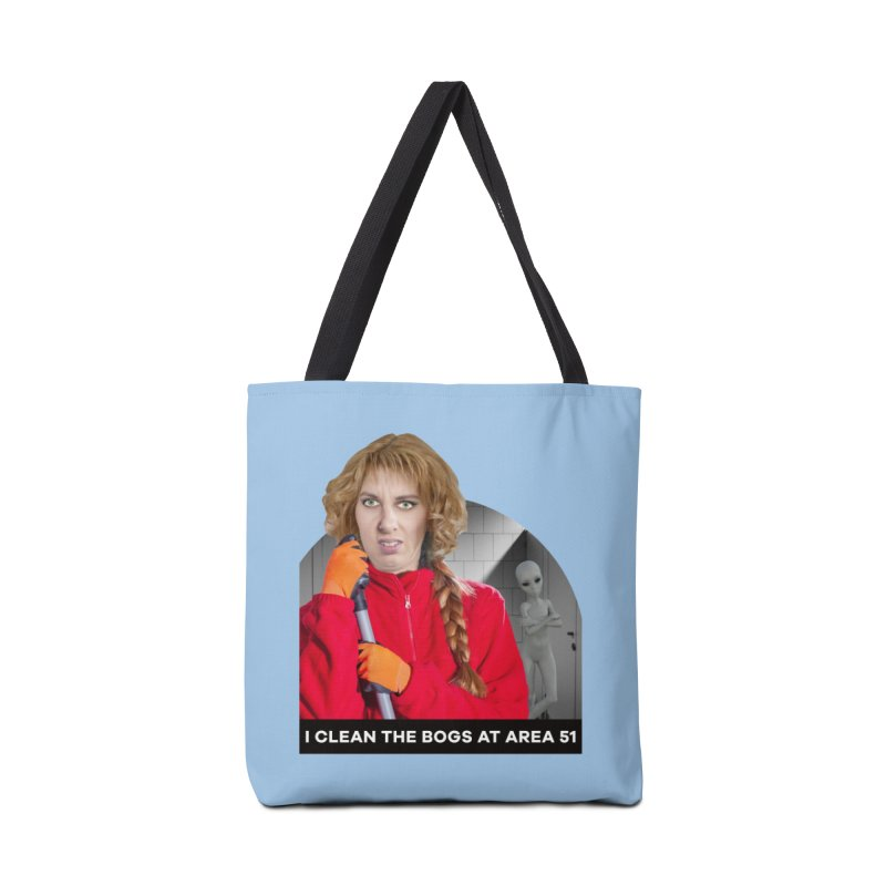 I Clean the Bogs at Area 51 Accessories Tote Bag Bag by The Rake & Herald Online Clag Emporium