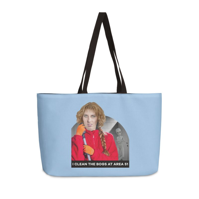 I Clean the Bogs at Area 51 Accessories Bag by The Rake & Herald Online Clag Emporium