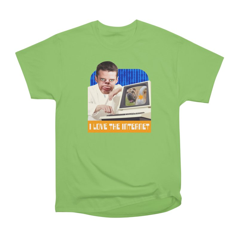 I Love the Internet Men's Heavyweight T-Shirt by The Rake & Herald Online Clag Emporium