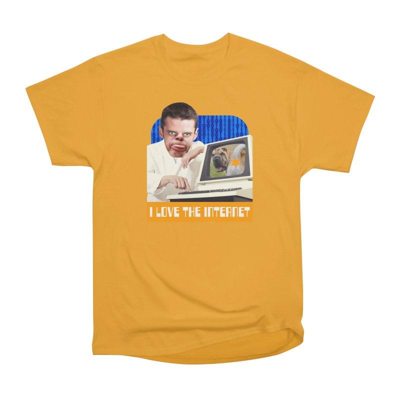I Love the Internet Men's Heavyweight T-Shirt by The Rake & Herald Online Clag Emporium
