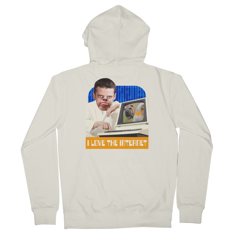 I Love the Internet Women's French Terry Zip-Up Hoody by The Rake & Herald Online Clag Emporium