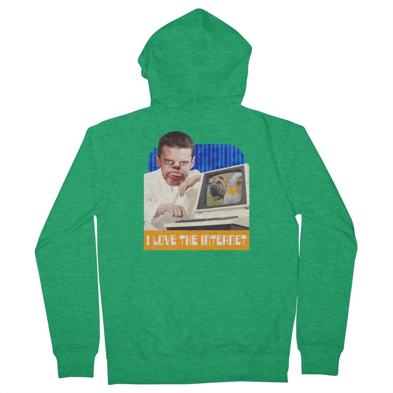 I Love the Internet Men's French Terry Zip-Up Hoody by The Rake & Herald Online Clag Emporium
