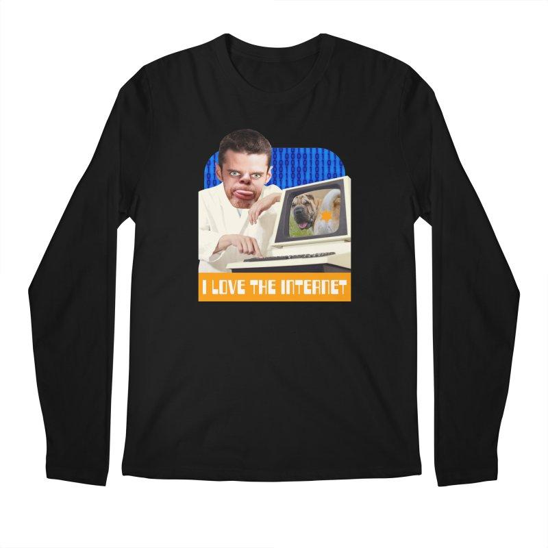 I Love the Internet Men's Regular Longsleeve T-Shirt by The Rake & Herald Online Clag Emporium