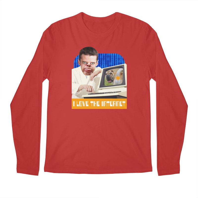 I Love the Internet Men's Regular Longsleeve T-Shirt by The Rake & Herald Online Clag Emporium