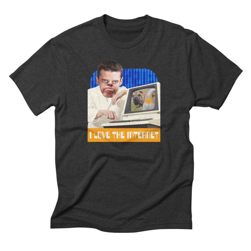 I Love the Internet Men's Triblend T-Shirt by The Rake & Herald Online Clag Emporium