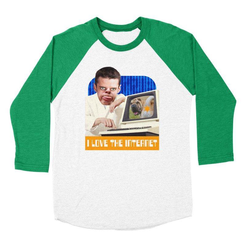 I Love the Internet Women's Baseball Triblend T-Shirt by The Rake & Herald Online Clag Emporium