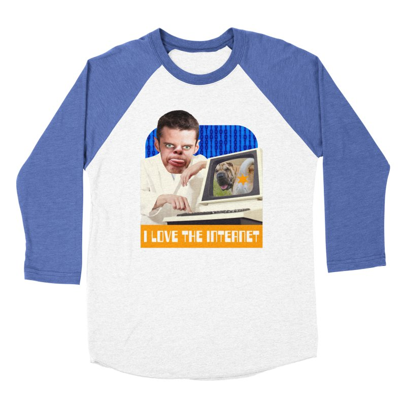 I Love the Internet Men's Baseball Triblend Longsleeve T-Shirt by The Rake & Herald Online Clag Emporium
