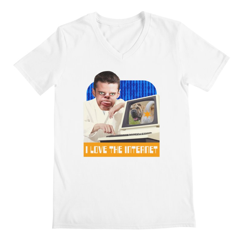 I Love the Internet Men's V-Neck by The Rake & Herald Online Clag Emporium