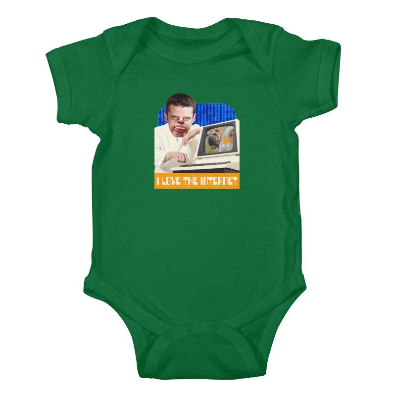 I Love the Internet Kids Baby Bodysuit by The Rake & Herald Online Clag Emporium