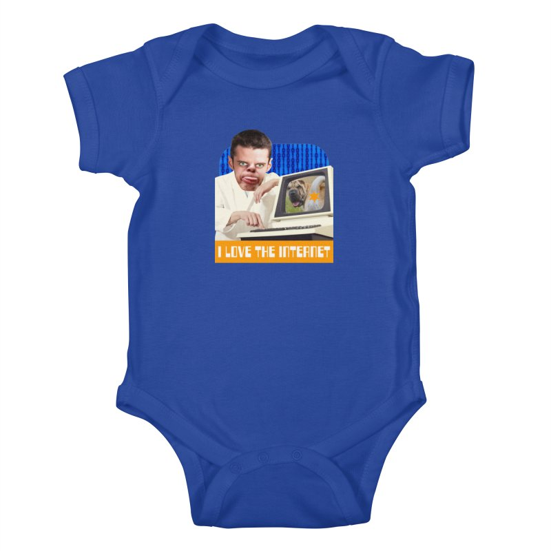 I Love the Internet Kids Baby Bodysuit by The Rake & Herald Online Clag Emporium