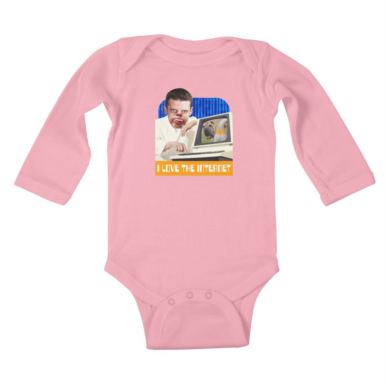 I Love the Internet Kids Baby Longsleeve Bodysuit by The Rake & Herald Online Clag Emporium