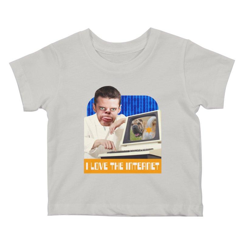 I Love the Internet Kids Baby T-Shirt by The Rake & Herald Online Clag Emporium