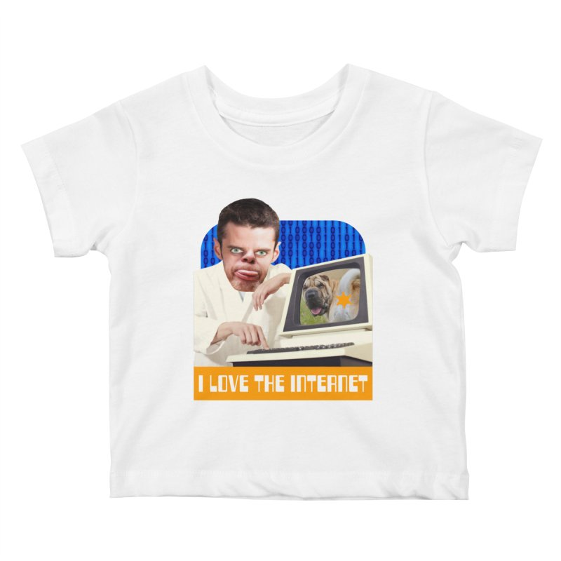 I Love the Internet Kids Baby T-Shirt by The Rake & Herald Online Clag Emporium
