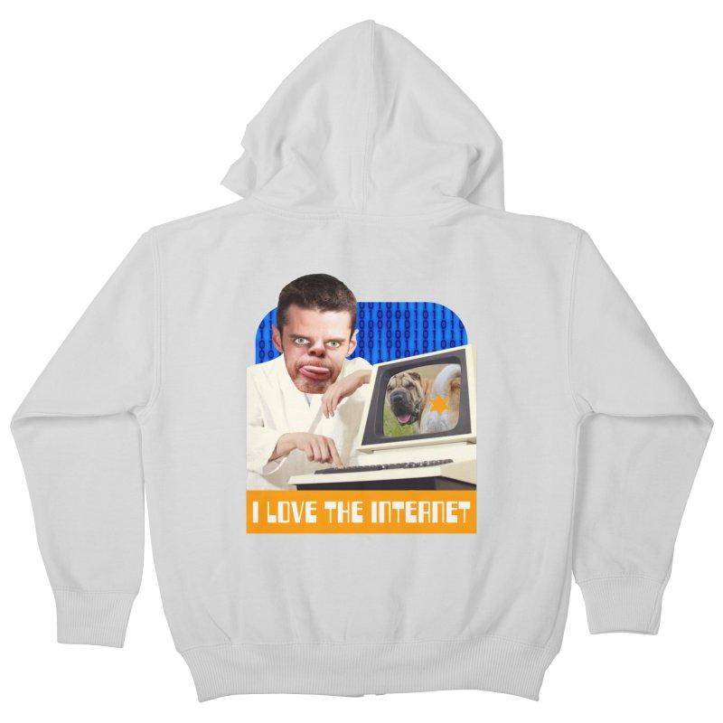 I Love the Internet Kids Zip-Up Hoody by The Rake & Herald Online Clag Emporium