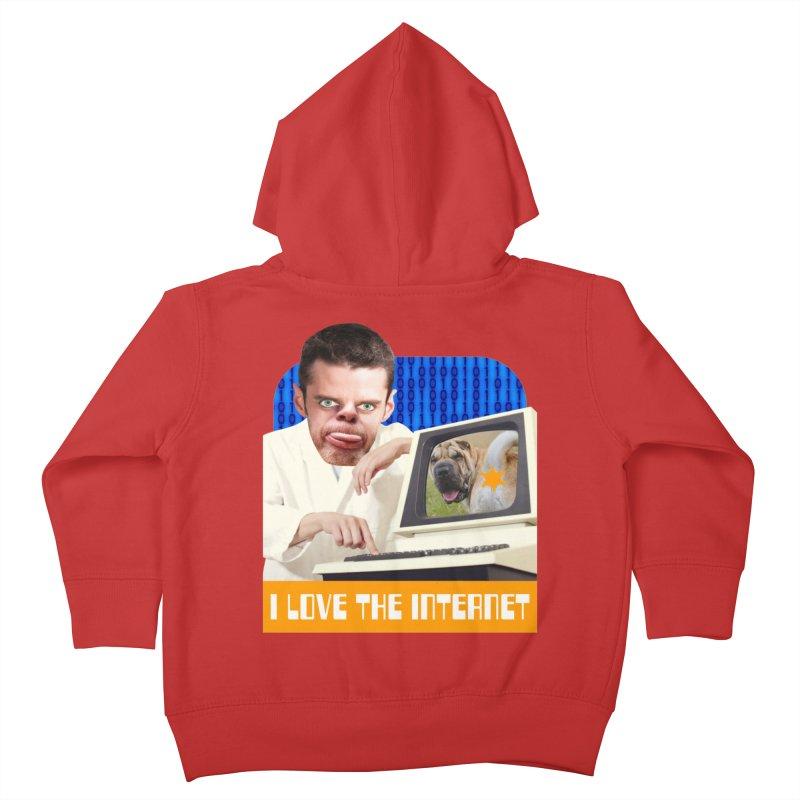I Love the Internet Kids Toddler Zip-Up Hoody by The Rake & Herald Online Clag Emporium