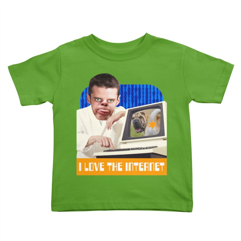 I Love the Internet Kids Toddler T-Shirt by The Rake & Herald Online Clag Emporium
