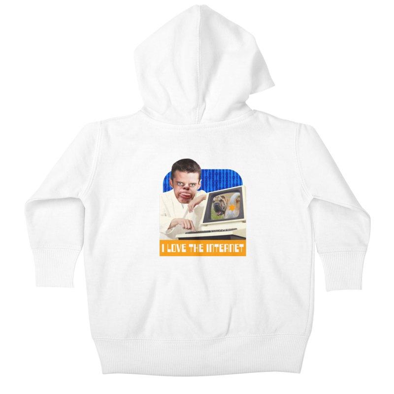 I Love the Internet Kids Baby Zip-Up Hoody by The Rake & Herald Online Clag Emporium