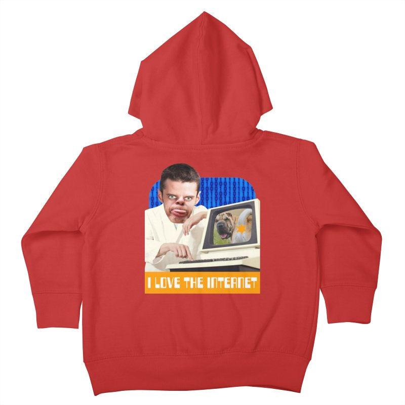 I Love the Internet Kids Toddler Zip-Up Hoody by The Rake & Herald Online Clag Emporium