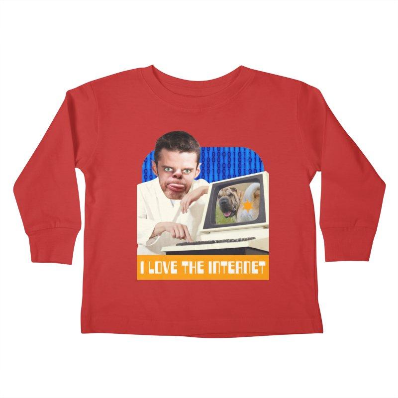 I Love the Internet Kids Toddler Longsleeve T-Shirt by The Rake & Herald Online Clag Emporium