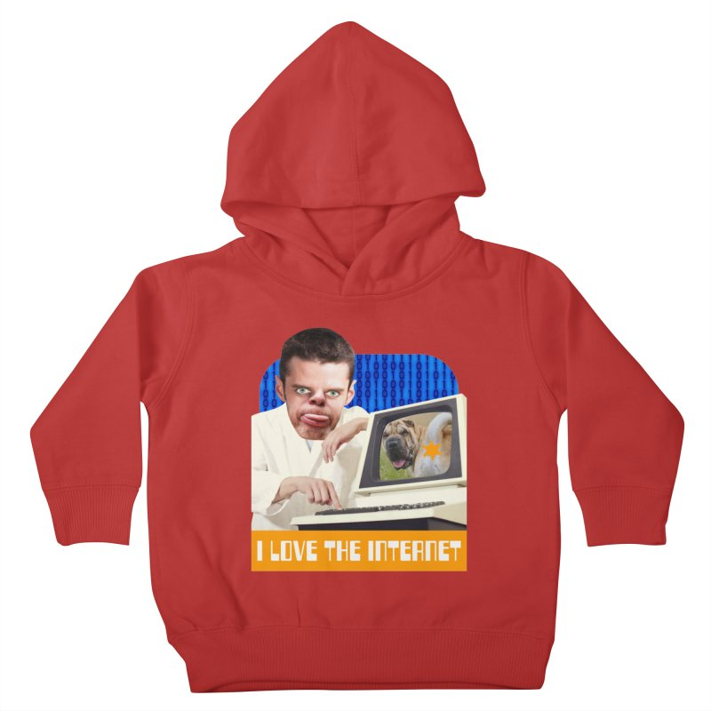 I Love the Internet Kids Toddler Pullover Hoody by The Rake & Herald Online Clag Emporium