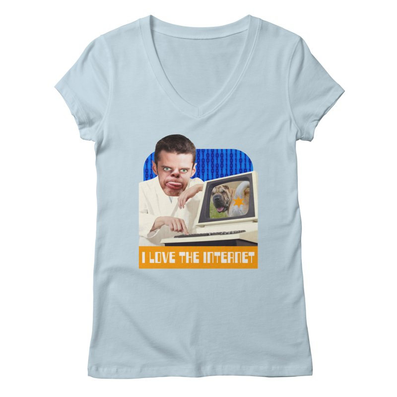 I Love the Internet Women's V-Neck by The Rake & Herald Online Clag Emporium