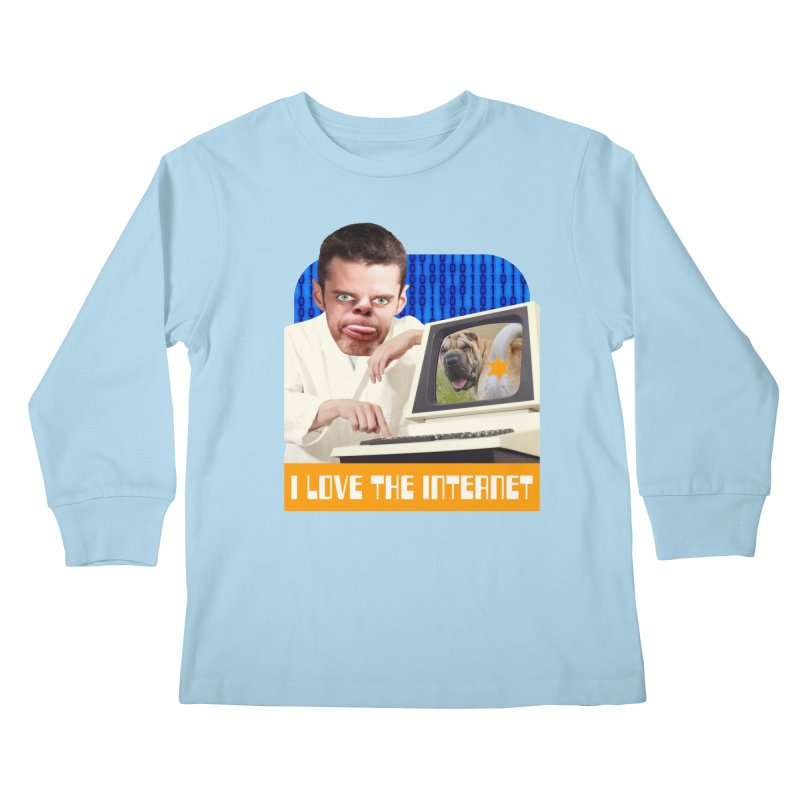 I Love the Internet Kids Longsleeve T-Shirt by The Rake & Herald Online Clag Emporium