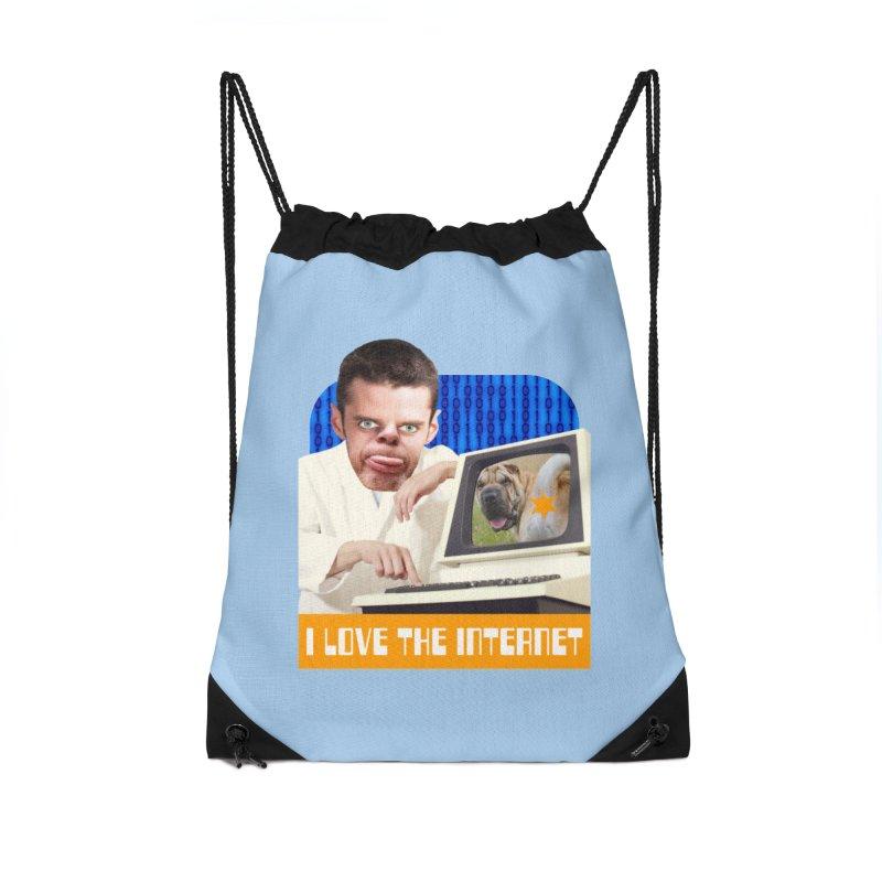I Love the Internet Accessories Drawstring Bag Bag by The Rake & Herald Online Clag Emporium