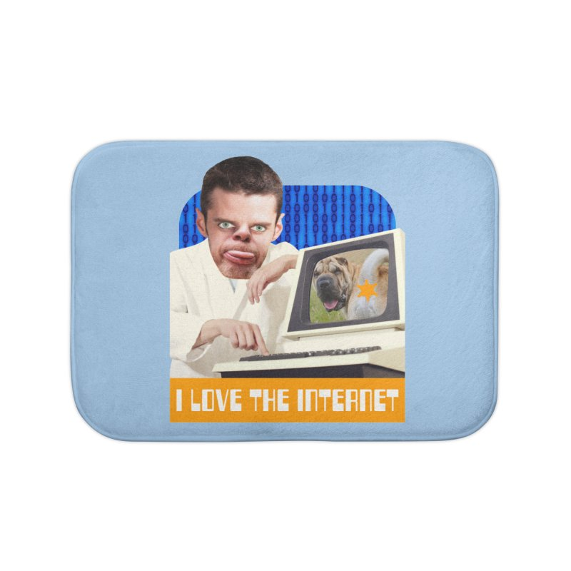 I Love the Internet Home Bath Mat by The Rake & Herald Online Clag Emporium