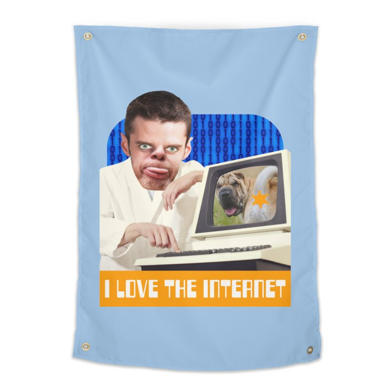 I Love the Internet Home Tapestry by The Rake & Herald Online Clag Emporium