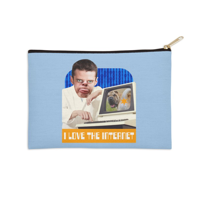 I Love the Internet Accessories Zip Pouch by The Rake & Herald Online Clag Emporium