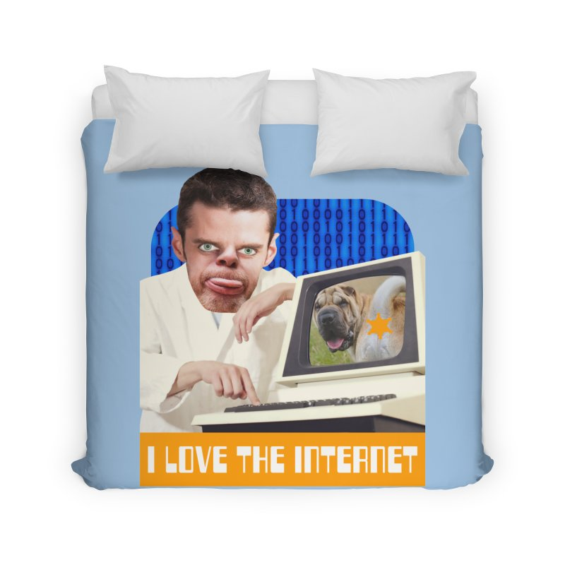 I Love the Internet Home Duvet by The Rake & Herald Online Clag Emporium