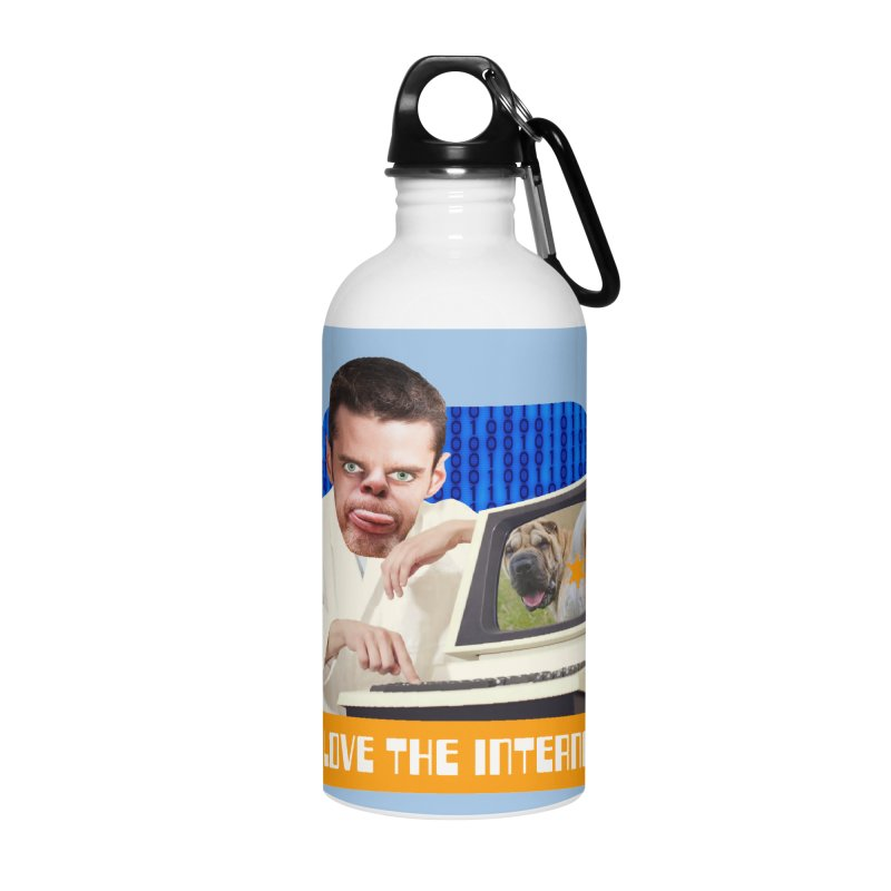I Love the Internet Accessories Water Bottle by The Rake & Herald Online Clag Emporium