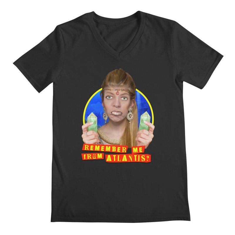 Remember Me From Atlantis? Men's Regular V-Neck by The Rake & Herald Online Clag Emporium