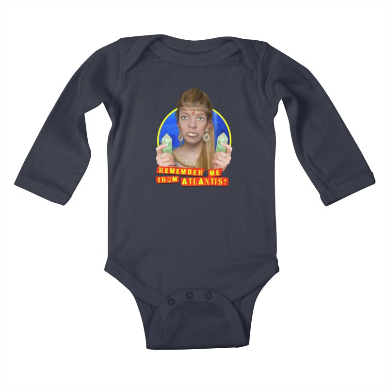 Remember Me From Atlantis? Kids Baby Longsleeve Bodysuit by The Rake & Herald Online Clag Emporium