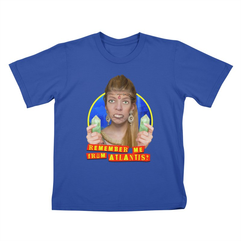 Remember Me From Atlantis? Kids T-Shirt by The Rake & Herald Online Clag Emporium