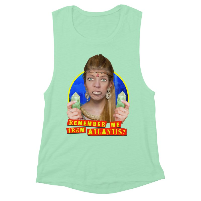 Remember Me From Atlantis? Women's Muscle Tank by The Rake & Herald Online Clag Emporium