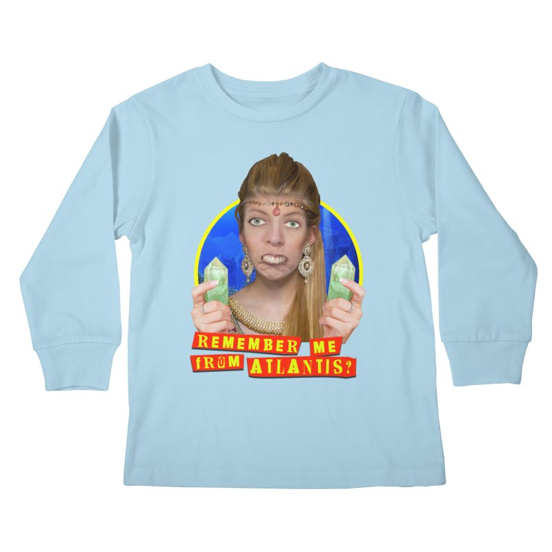 Remember Me From Atlantis? Kids Longsleeve T-Shirt by The Rake & Herald Online Clag Emporium
