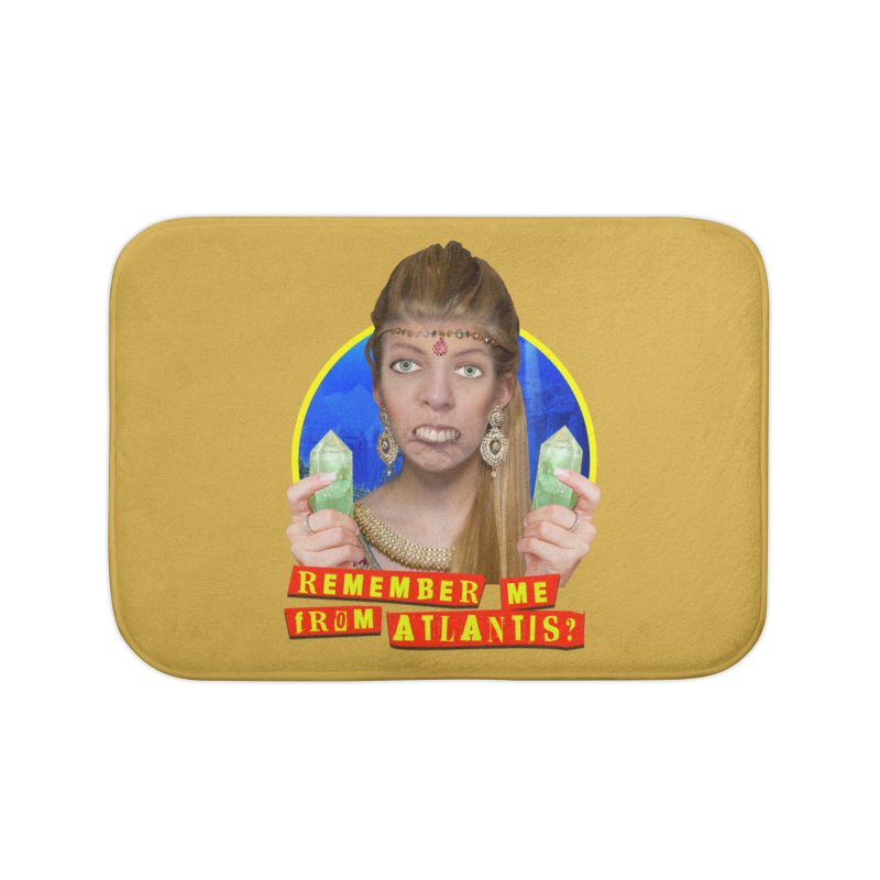 Remember Me From Atlantis? Home Bath Mat by The Rake & Herald Online Clag Emporium