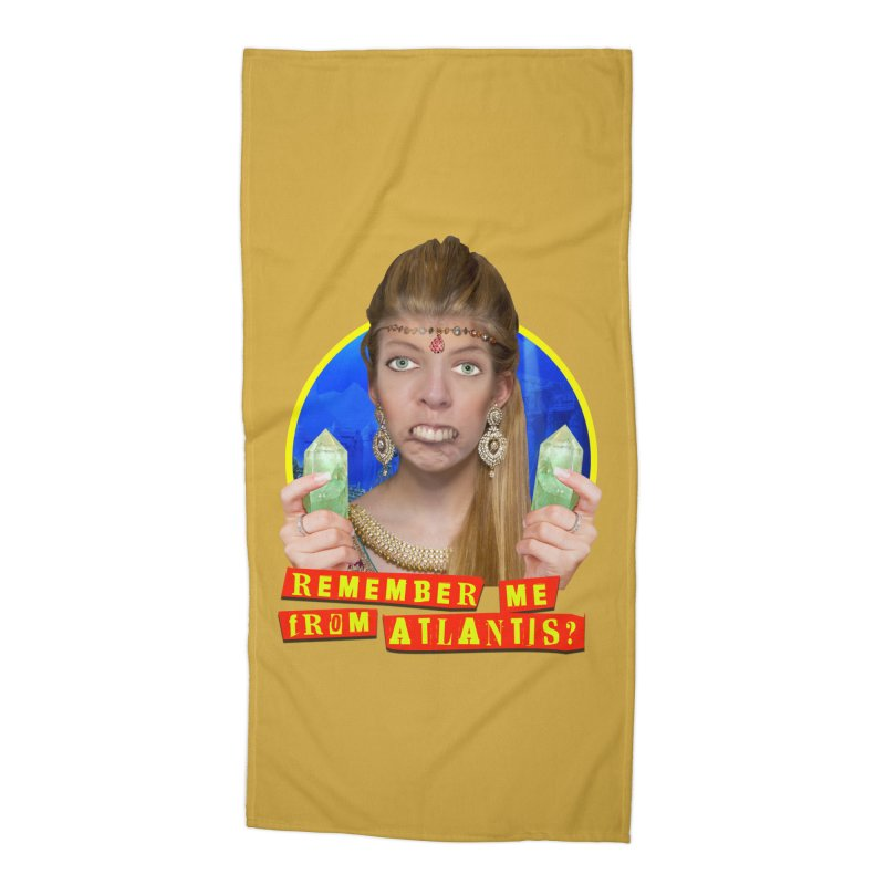 Remember Me From Atlantis? Accessories Beach Towel by The Rake & Herald Online Clag Emporium