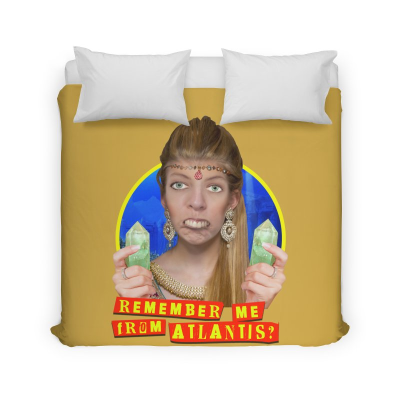 Remember Me From Atlantis? Home Duvet by The Rake & Herald Online Clag Emporium