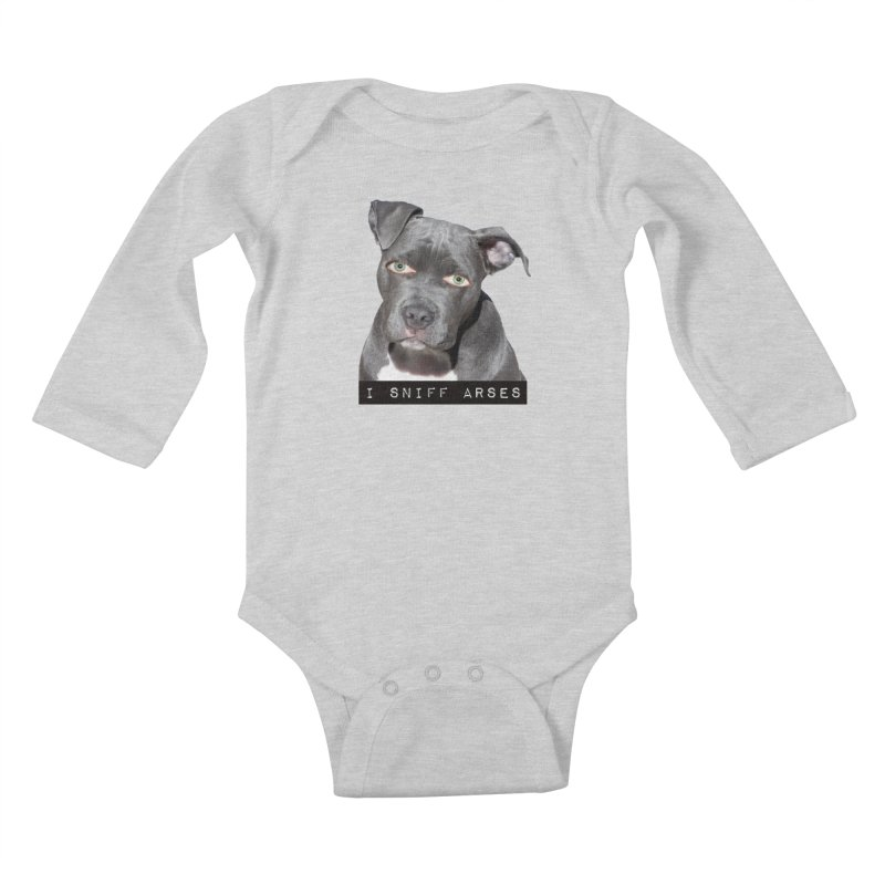I Sniff Arses Kids Baby Longsleeve Bodysuit by The Rake & Herald Online Clag Emporium