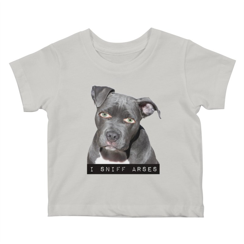 I Sniff Arses Kids Baby T-Shirt by The Rake & Herald Online Clag Emporium