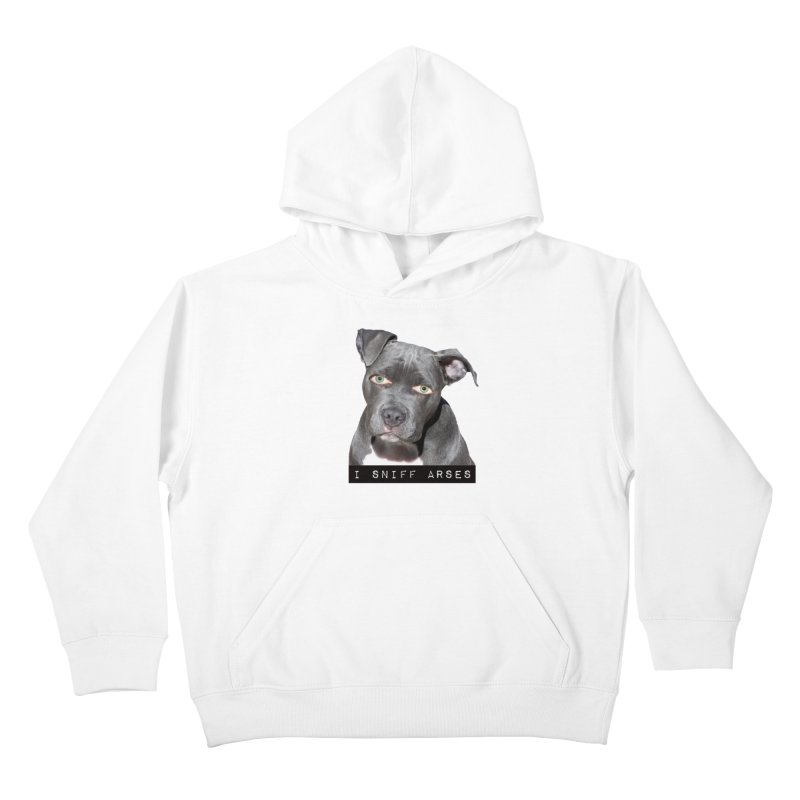 I Sniff Arses Kids Pullover Hoody by The Rake & Herald Online Clag Emporium