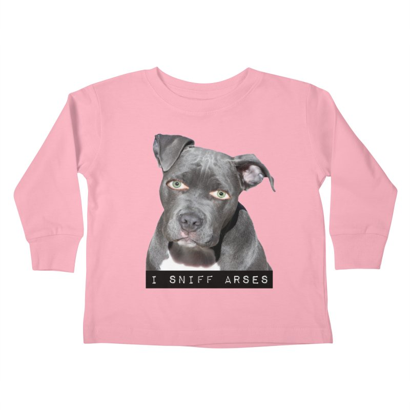 I Sniff Arses Kids Toddler Longsleeve T-Shirt by The Rake & Herald Online Clag Emporium