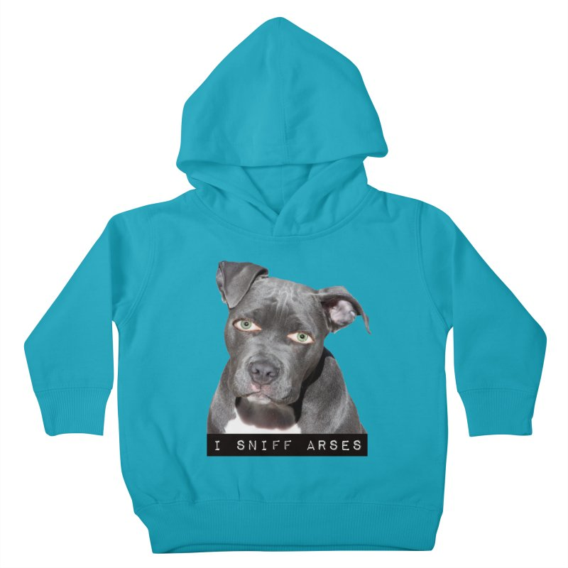 I Sniff Arses Kids Toddler Pullover Hoody by The Rake & Herald Online Clag Emporium