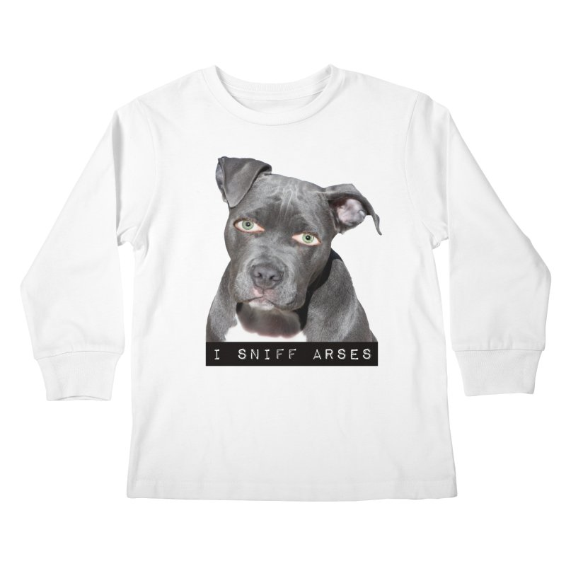 I Sniff Arses Kids Longsleeve T-Shirt by The Rake & Herald Online Clag Emporium